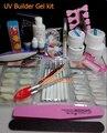 Pro Nail Art UV Gel Kits Tools Brush Remover nail tips glue 2018