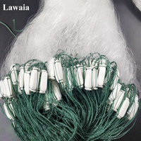 Lawaia Fishing Nets Sticky Mesh Three layer Sticky Nets With Floats 1.5M High 70M Long White Silk Bold Wire Mesh Hanging Network