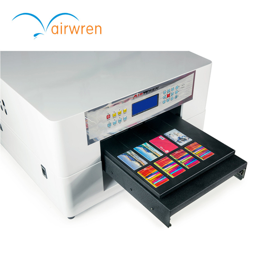 UV Emboss Phone Cover Inkjet Printer For Printing Metal Flatbed License Plate