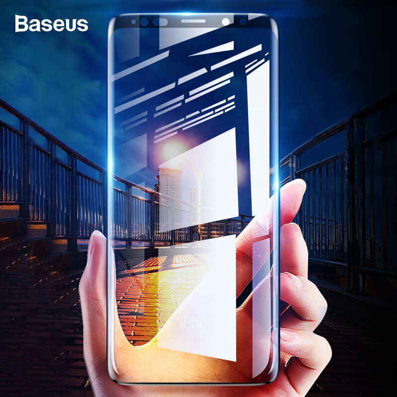 Baseus Screen-Protector Protective-Glass-Film Note9 Full-Cover Samsung Galaxy Plus