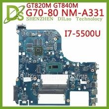 Kefu G70-80 для lenovo G70-70 B70-80 Z70-80 I7-5500U материнская плата ailg NM-A331 Rev1.0 DDR3L с GT840M/GT820M Тесты 100% оригинал