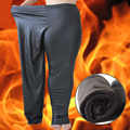 Winter Women's Thick Black New PU Legging Large size XXXL 4XL 5XL Super Elastic Soft Women All-match Health Pants Warm BRUSHED