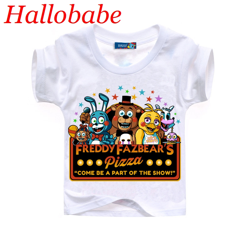 2Y-10Y Boy Clothes Cartoon Children t Shirts Five Nights At Freddy's Clothing Camiseta Kids Clothes Boys t-Shirt 5 Freddys Tops