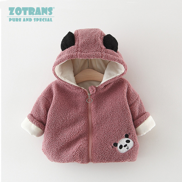 fa8fb037f Newborn Baby Girl coat Cute Hooded Outerwear Winter Cartoon Fleece ...