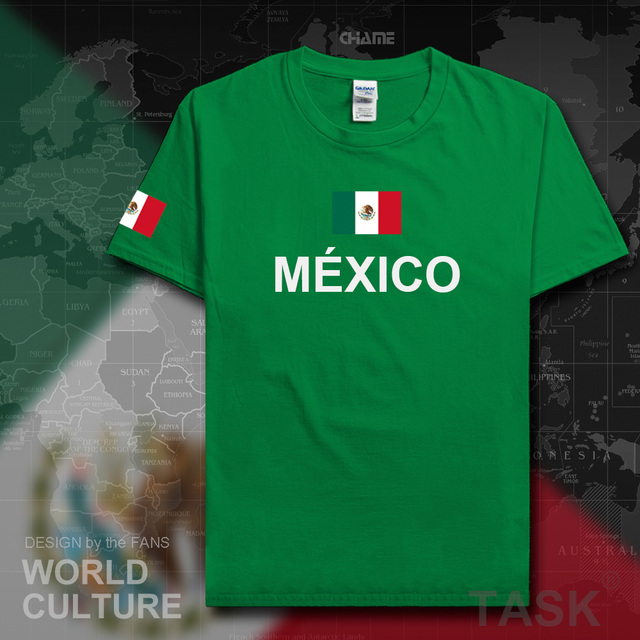 9972ee712 United Mexican States Mexico t shirt men casual jersey 2017 t-shirts 100% cotton  nation team tees cotton fans streetwear fitness