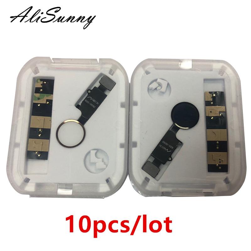 AliSunny 10pcs Universal Home Button Flex Cable for iPhone 7 8 Plus Menu Keypad Return On