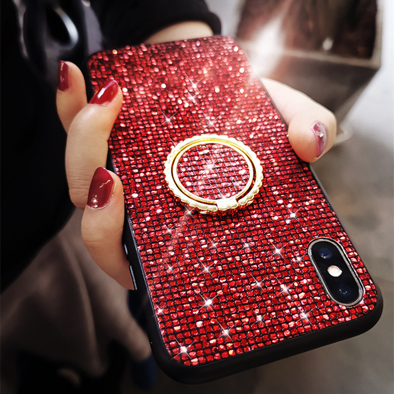 Bling Glitter Diamond <font><b>Ring</b></font> bracket <font><b>Case</b></font> For <font><b>Samsung</b></font> <font><b>Galaxy</b></font> A50 <font><b>A70</b></font> A10 A40 A30 A10 <font><b>Case</b></font> for <font><b>samsung</b></font> M10 20 30 S8 S9 S10 Cover image