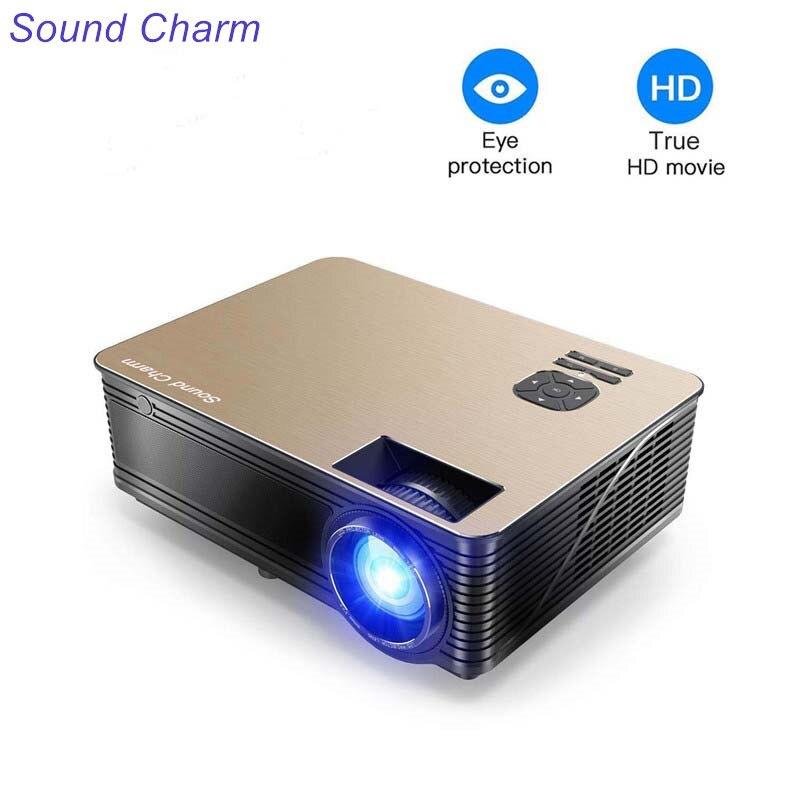 Encanto do som Full HD 5500 Lumens LED Vídeo Projetor Home Com 2USB 2 HDMI AV VGA Portas