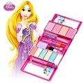 Caliente Lindo Kit de Maquillaje Maquiagem Sombra de Ojos Labios Pinceles set Niños Juguetes de Simulación de Color Rosa Roja