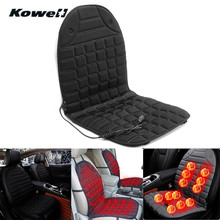 KOWELL Universal 12V 36W-45W 25-60 Degree Adjustable Winter Seats Heated Cushion Case Auto Car Seat Cover with Heating