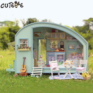Image 5 - DIY Doll House Wooden Doll Houses Miniature Dollhouse Furniture Kit Toys for Children Gift  Time Travel Doll Houses A 016