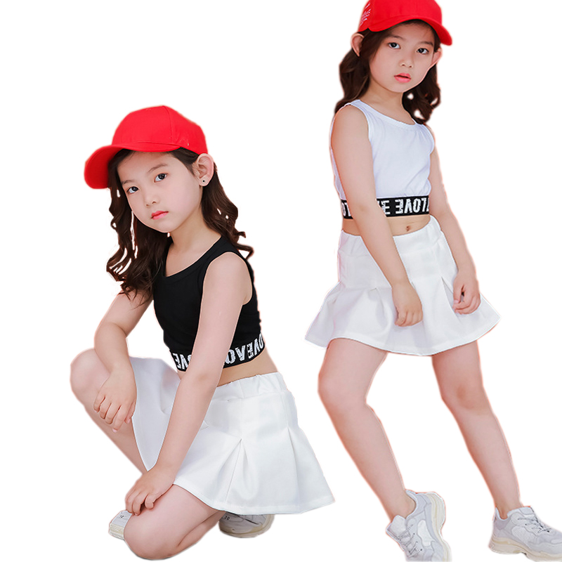 01ca4beecef8c1 Lovely Casual Two Piece Kids Crop Top Skirt Set For Girls 4 6 8 10 11