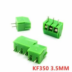 10pcs KF350 2P 3P 3.5mm Pitch Green Pin Screw Terminal Block Connector KF350 amphenol connector 250V/10A(China)
