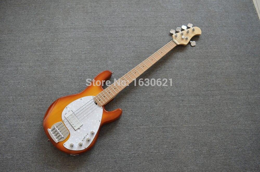 2018 new factory 5 strings bass music man stingray 5 sunburst electric bass musicman 9v. Black Bedroom Furniture Sets. Home Design Ideas