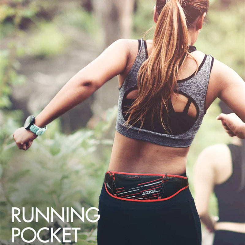 Image 5 - AONIJIE W952 Sport Running Belt Waist Pack Men Women Outdoor Sports Bag Mobile Phone Holder Marathon Bag Trail Running  JoggingRunning Bags   -
