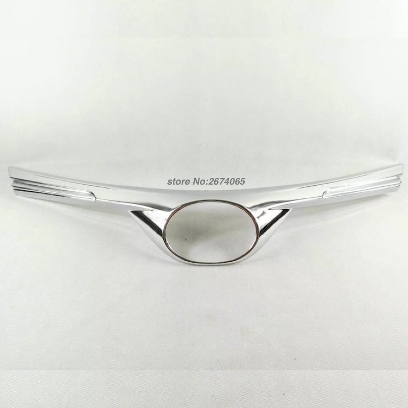 For Toyota RAV4 RAV 4 2016 2017 Front Grille Logo Middle Net Trim Cover Auto Exterior ABS Chrome Car Styling Accessories