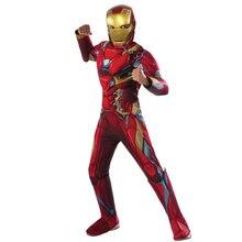 Avengers 3 Nano Iron Man Childrens Fantasy Cosplay Costume Comic Movie Carnival Holiday Party Purim Halloween