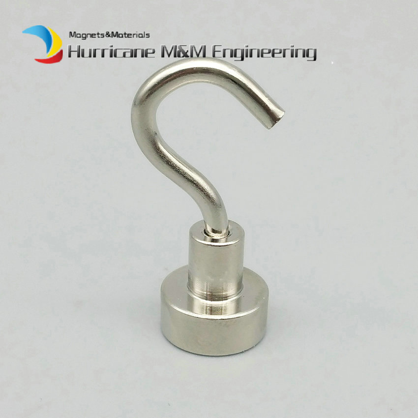 1 pack Mounting Magnet Diameter 12 mm Clamping Pot Magnet with Steel Hook Neodymium Lifting Magnet Strong Magnet Lathed Cup 1 pack mounting magnet diameter 12 mm clamping pot magnet with steel hook neodymium lifting magnet strong magnet lathed cup