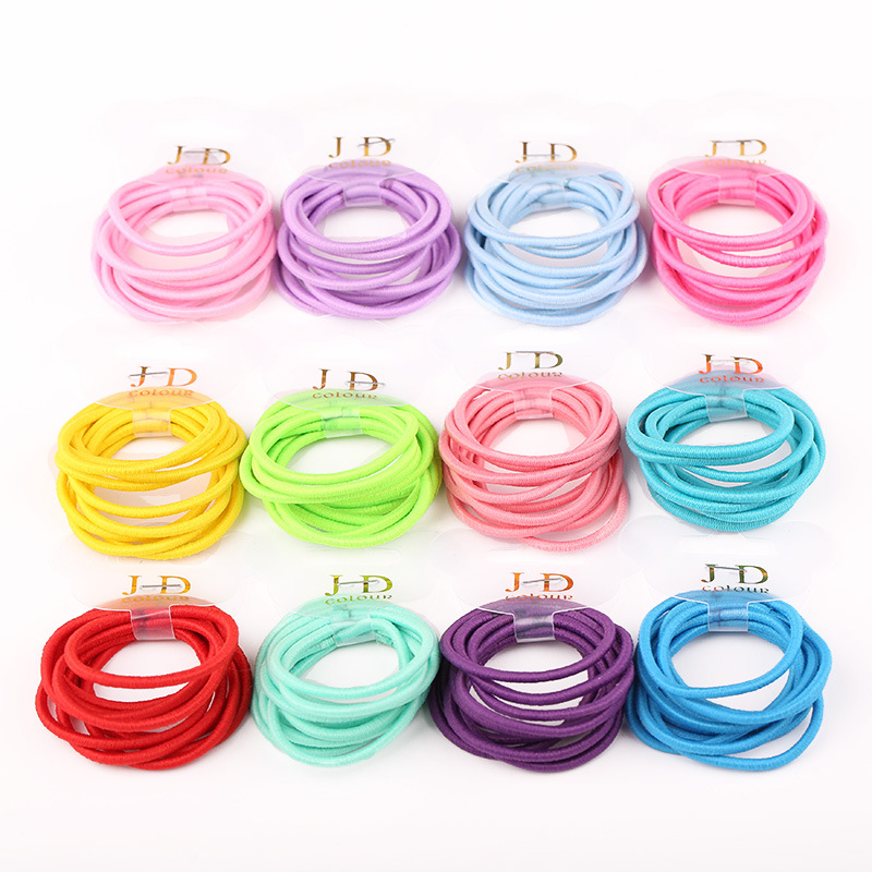 10 PCS/lot 2016 New Fashion  Women Elastic Hair Bands Candy Color Girls Hair Accessories Kids Headbands Baby Headwear Hair Ropes free shipping 10pcs lot new adult elastic hair bands women headwear for girls hair rope headbands accessories 14 colors 15cm