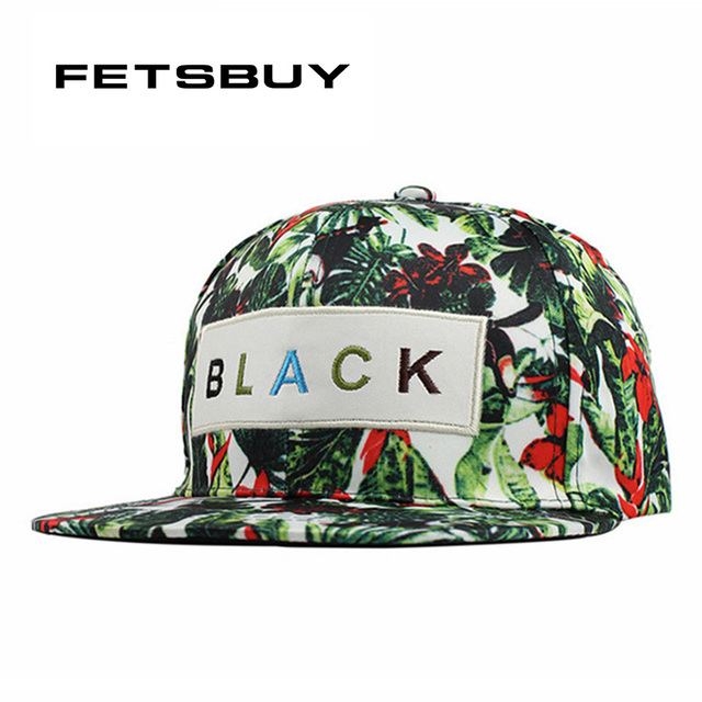 b925c6d560434 Fetsbuy huesos hip hop gorras planas SnapBack gorras flor para las mujeres  casquette sombreros para hombres