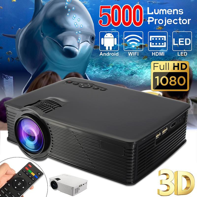 7000 люмен светодиодный WI FI проектор 1080 P HD Android4.4 3D мультимедийный проектор для Театр дома Кино Презентация видео игры ТВ фильм