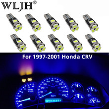WLJH 10x T5 Led 7 Colors Car Light 85 74 37 73 286 Wedge Dashboard Instrument Gauge Dash Light Bulb For 1997 1998-2001 Honda CRV(China)