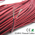 20m 22AWG cable,2pin copper Tinned Red black wire extension cable For LED Strip 5050/3528,PVC insulated Electrical wire freeship