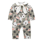 2018 Tiny Cotton Baby Rompers Rabbit Style Infant Boy Rompers Jumpsuit Long Sleeve Baby Onesie Newborn Baby Boy Clothes