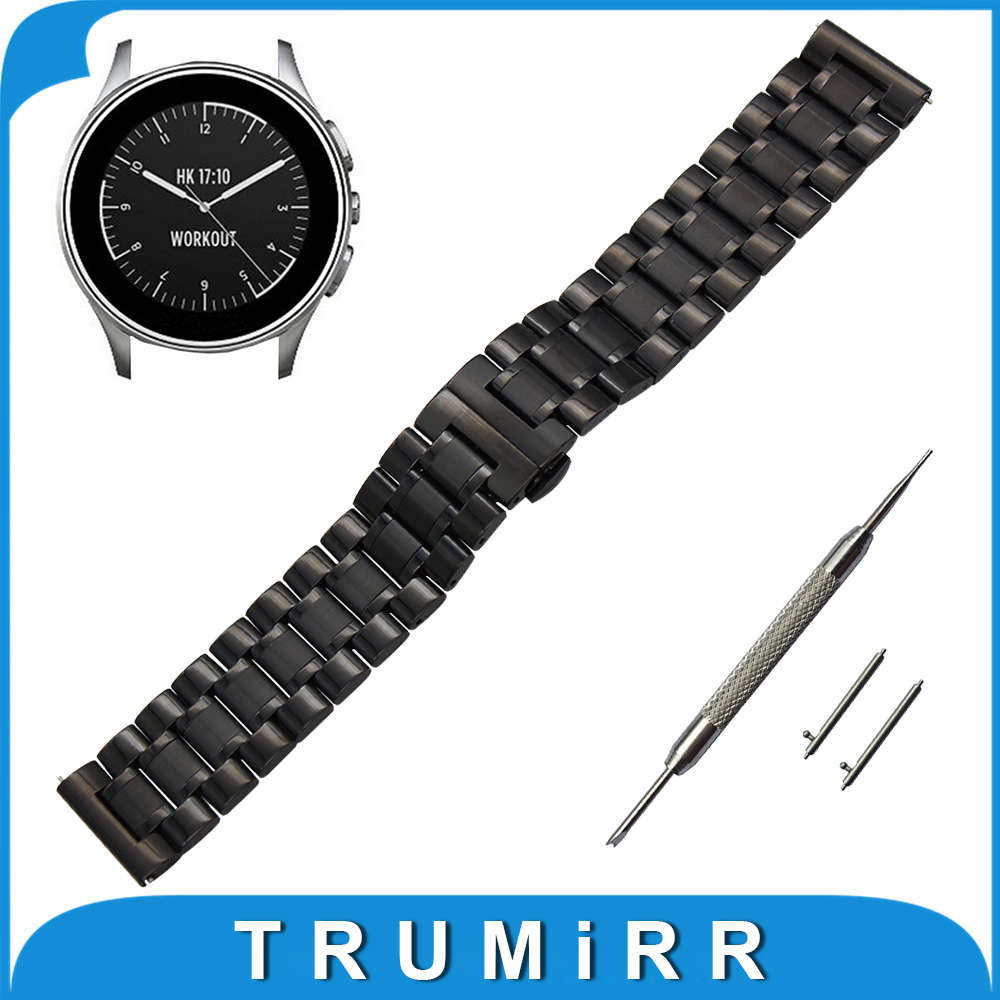 22mm Stainless Steel Watch Band for Vector Luna / Meridian, for Xiaomi Smartwatch Huami Amazfit Strap Wrist Belt Bracelet original xiaomi steel net watch band for miband