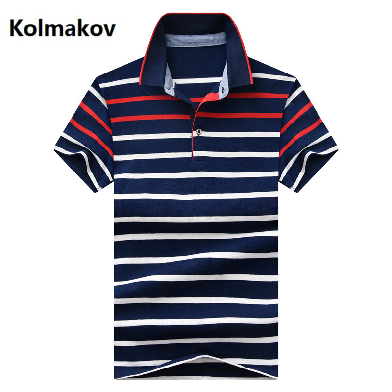 2019 fashion stripe   Polos   Mens   POLO   Shirts 100% Cotton Slim Fit Short Sleeve   Polo   Casual Male   Polo   Shirt full size M - 4XL