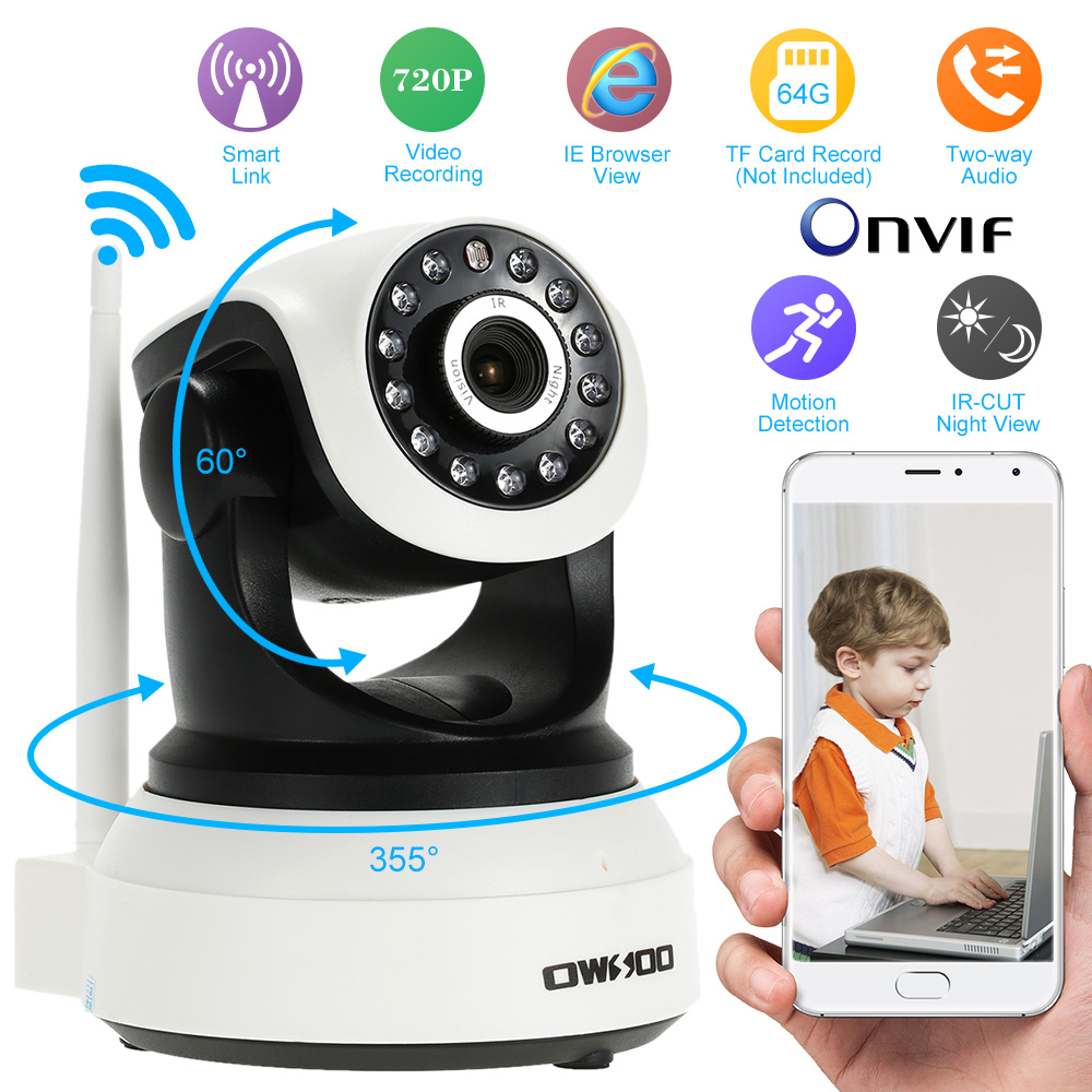 cheapest owsoo hd 720p wireless ip camera wifi onvif ptz video surveillance security cctv. Black Bedroom Furniture Sets. Home Design Ideas