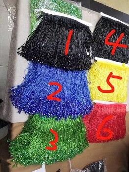 5 ярдов/мешок с бахромой и с бусинами красивый дизайн JRB-10222 для украшения платье 6 видов цветов вариант