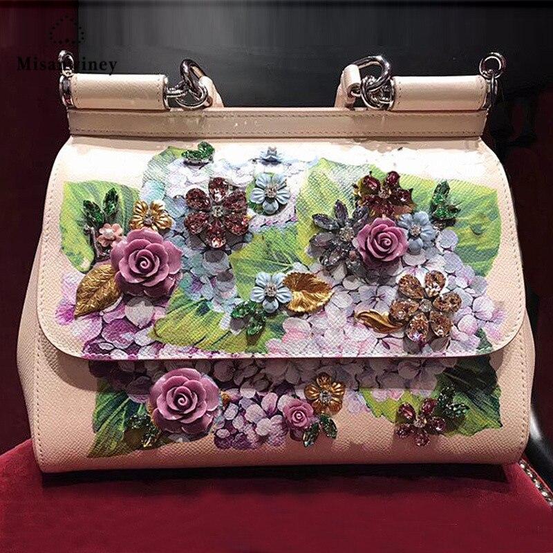 Misanwiney Summer New Genuine Leather Luxury Handbags Women Bag Designer Famous Drands Sale Famous Small Shoulder Crossbody Ba