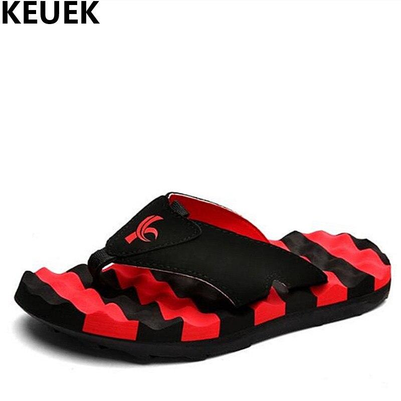 Summer Fashion Men Slippers Korean non-slip Slides personality beach flip flops 01B цена
