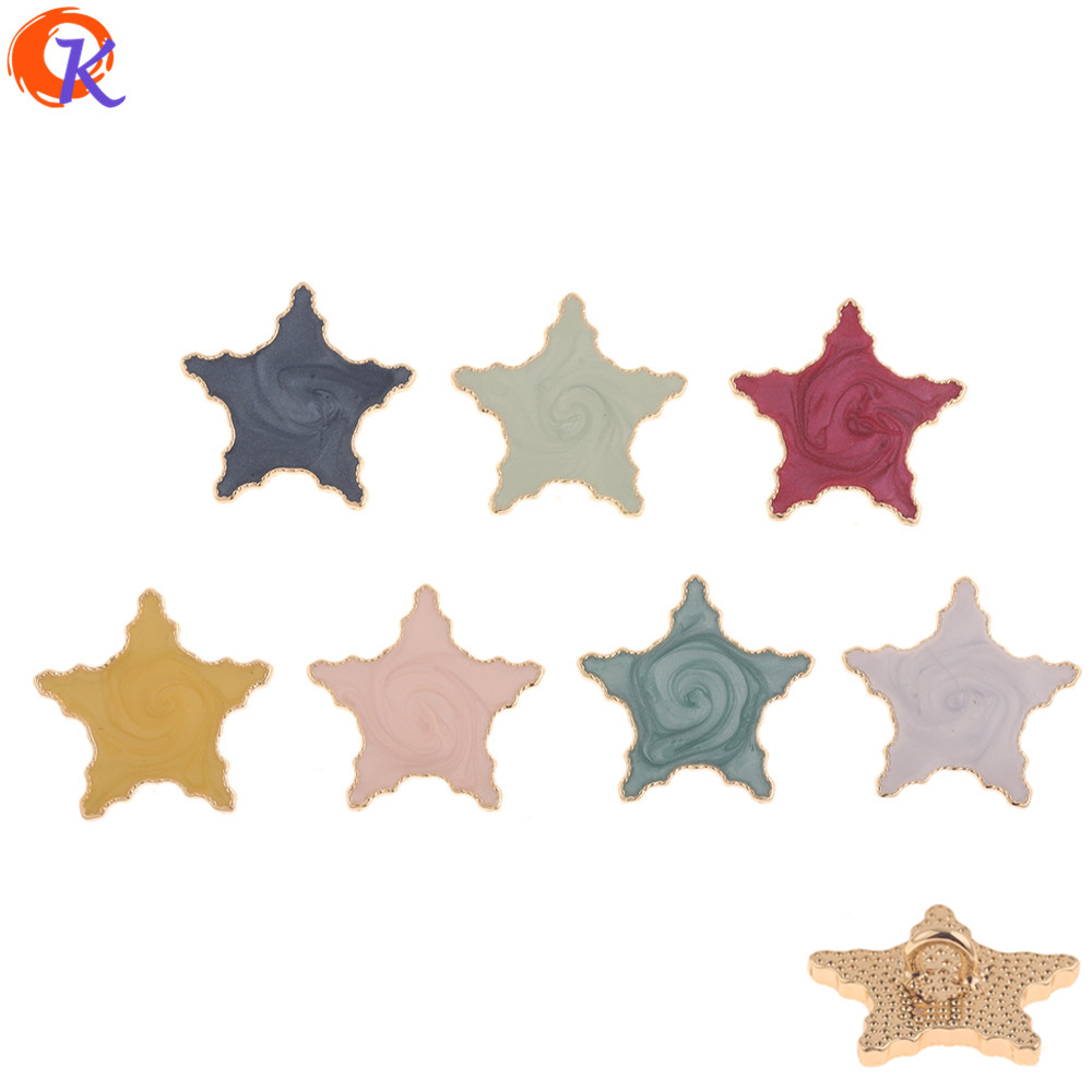 Cordial Design 30Pcs 29*30MM DIY Jewelry Making/Hair Accessories/Paint Effect/Star Shape/Hand Made/Jewelry Findings Component(China)