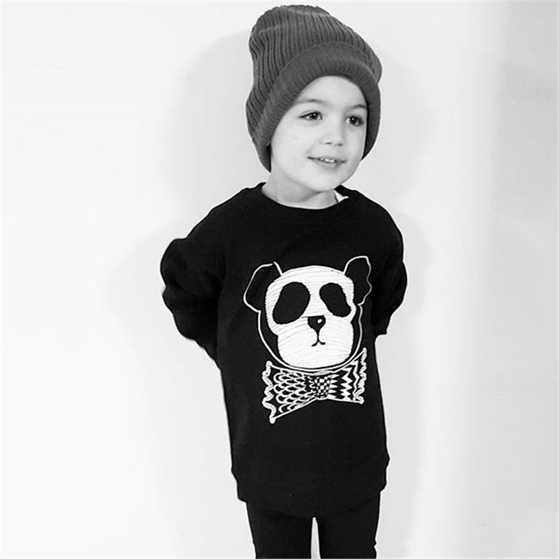 12For Boys Girls Sweater T-Shirts Clothes Autumn Winter New Panda Bear Printing Tops Kids Sweatershirt  Tees Clothing Full Sleeve 11