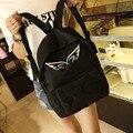 Mulheres mochila no ombro saco de escola de moda para adolescentes lona simples back pacotes de viagens mochila mochila mochilas escolares