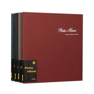 Image 1 - Retro 12 cal wysokiej jakości zamszowe album handmade DIY samoprzylepne, fotografia, księga, pary pamiątkowe zdjęcie ślubne kolekcja