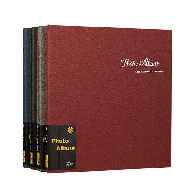 Retro 12 cal wysokiej jakości zamszowe album handmade DIY samoprzylepne, fotografia, księga, pary pamiątkowe zdjęcie ślubne kolekcja