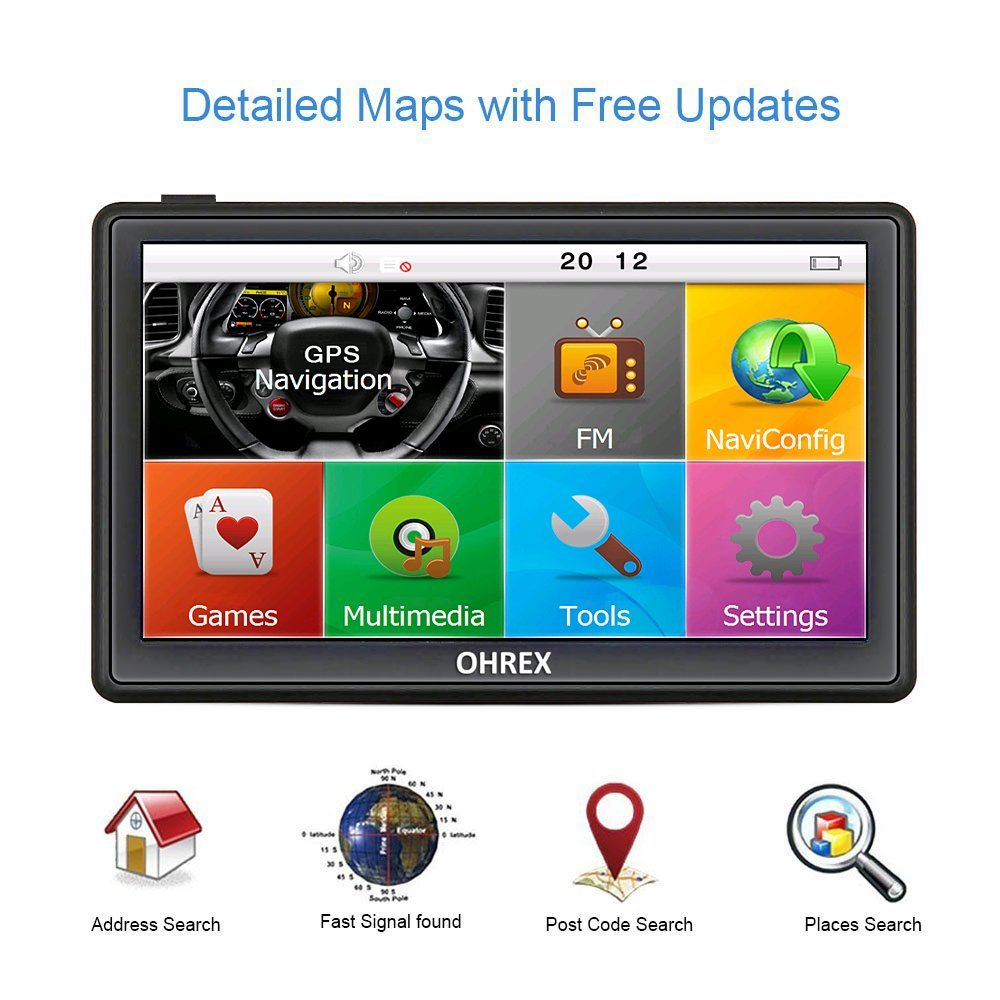 OHREX Inch Capacitive Screen Truck Vehicle Car GPS Navigation - Gps with europe and us maps