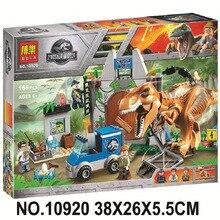 Legoings 10758 Jurassic World Dinosaurs Tyrannosaurus Rex Breakout Building Block Bela 10920