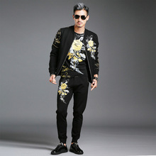 Mens Tracksuit Men's Fashion Design Trends Casaco Masculino Leisure Printing Hooded Cloak Jacket