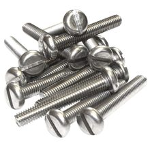 M5 Stainless Steel Machine Screws, Slotted Pan Head Bolts M5*12mm 100pcs