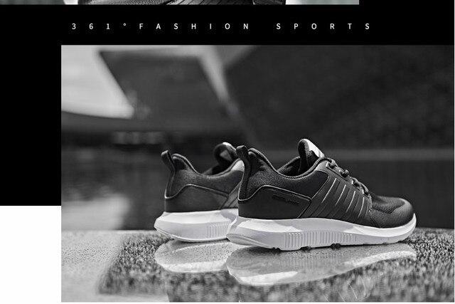 361 мужские туфли кроссовки 2018 Новинка осени воздухопроницаемой сеткой низкий, чтобы помочь 361 градусов студенты легкие кроссовки