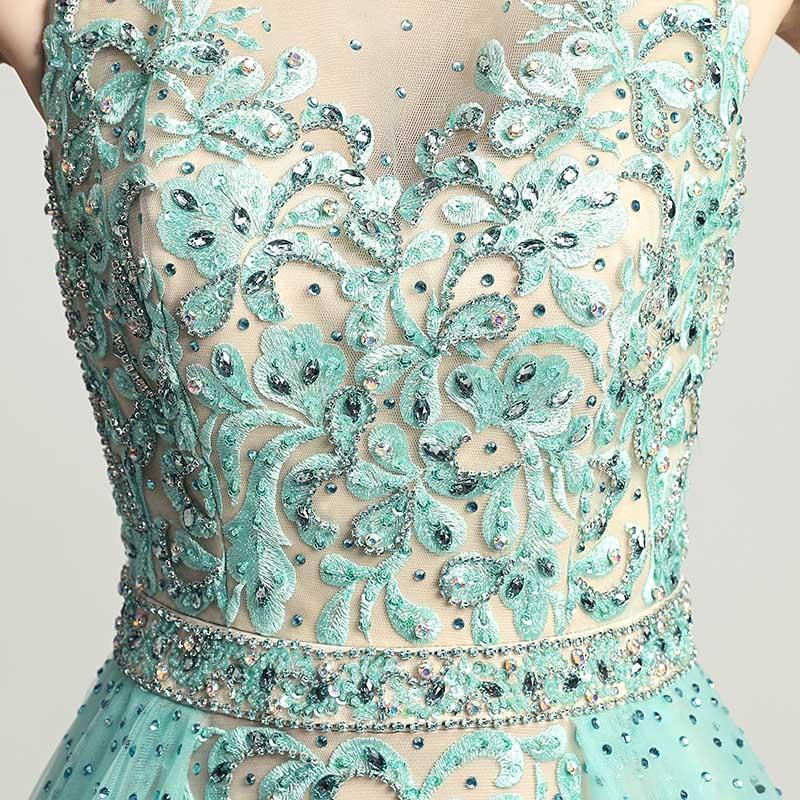Skönhet Lace Appliques Knä Längd Cocktail Klänningar med Tulle - Särskilda tillfällen klänningar - Foto 5