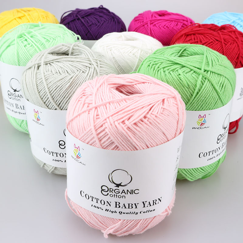 Hot 100% Cotton Crochet Knitting Yarn Thread For Handmade Quality Eco-Friendly Dyed Cotton Yarns Summer Dresses Blanket Sweater