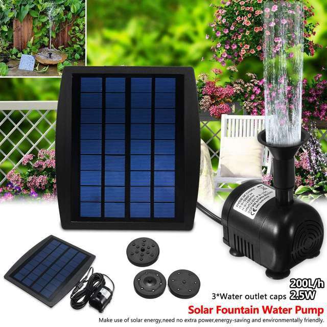 2 5w Solar Panel Floating Fountain Pump Kit Waterfall Outdoor Water Bird Bath