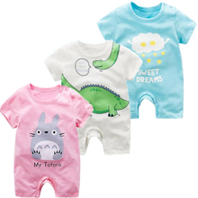 Baby romper Summer Newborns Clothing Short Sleeved Cotton Newborn Baby Girl Clothes infant rompers Jumpsuit Boys body suit long sleeves baby boys infant jumpsuit summer baby clothing fashion gentleman bow triangle romper bebe newborn body baby clothes