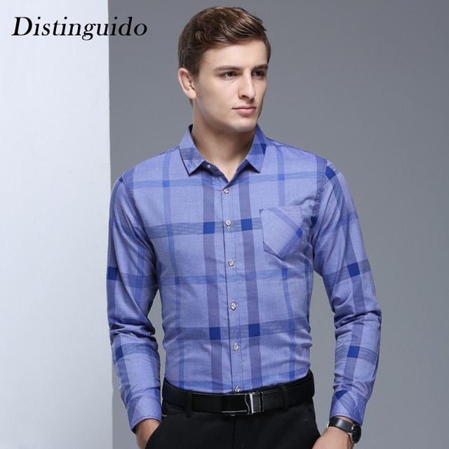 79f2e73dc05 2018 Trendy New Spring Summer Smart Casual Slim Style Long Sleeves Men s  Shirts Business Clothing Man Shirt MST132