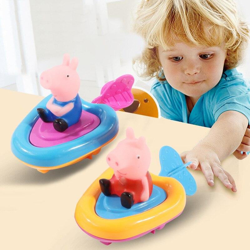 Прекрасный ребенок Пепа Розовый Свинья плавание Заводной dabbling Классические игрушки хобби в воде бассейна детские игрушки для ванной для де...